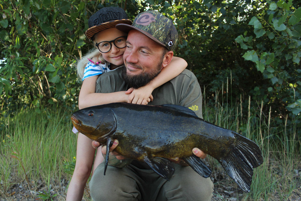 father and daughter carp